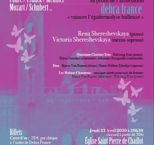 Grand concert des Maîtres chanteurs du Barreau de Paris par DEBRA FRANCE